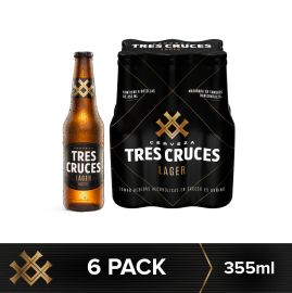 Cerveza Tres Cruces Lager 6Pack – Botella 355ml