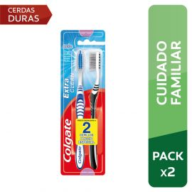 Cepillo Dental Colgate Extra Clean Firme 2pack